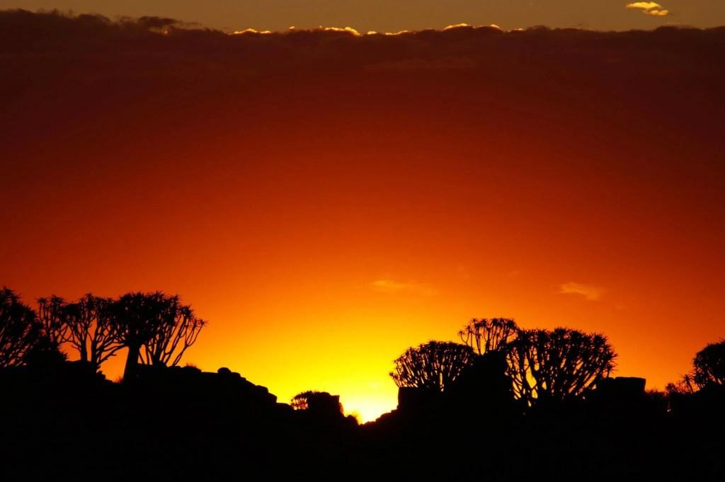 sunset at Garas Park Rest Camp