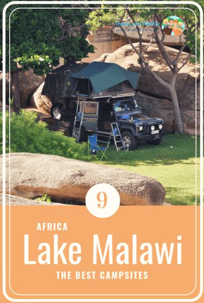 Lake Malawi camping sites pin