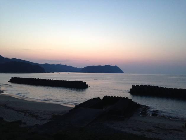 sunset in Shikoku