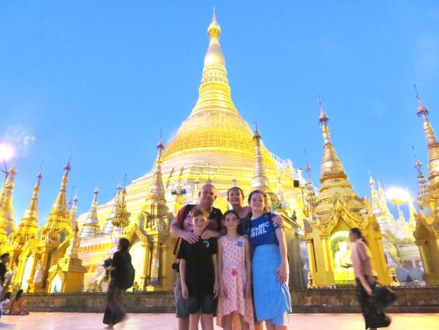 Schwedagon Pagoda and Our3kidsvstheworld