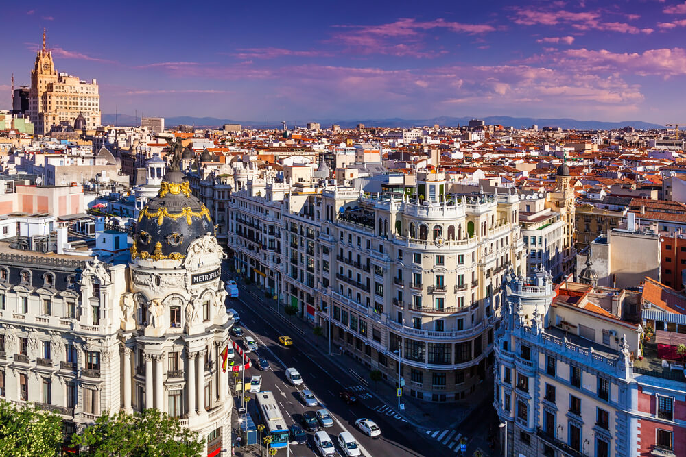 City view of Madrid