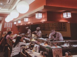 typical sushi restaurant