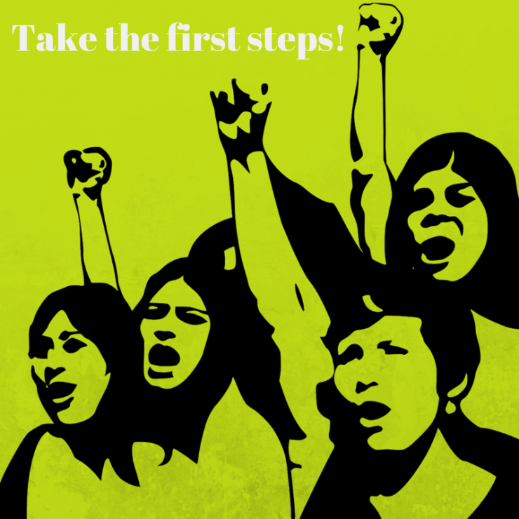4-step formular to supporting the women's rights movement