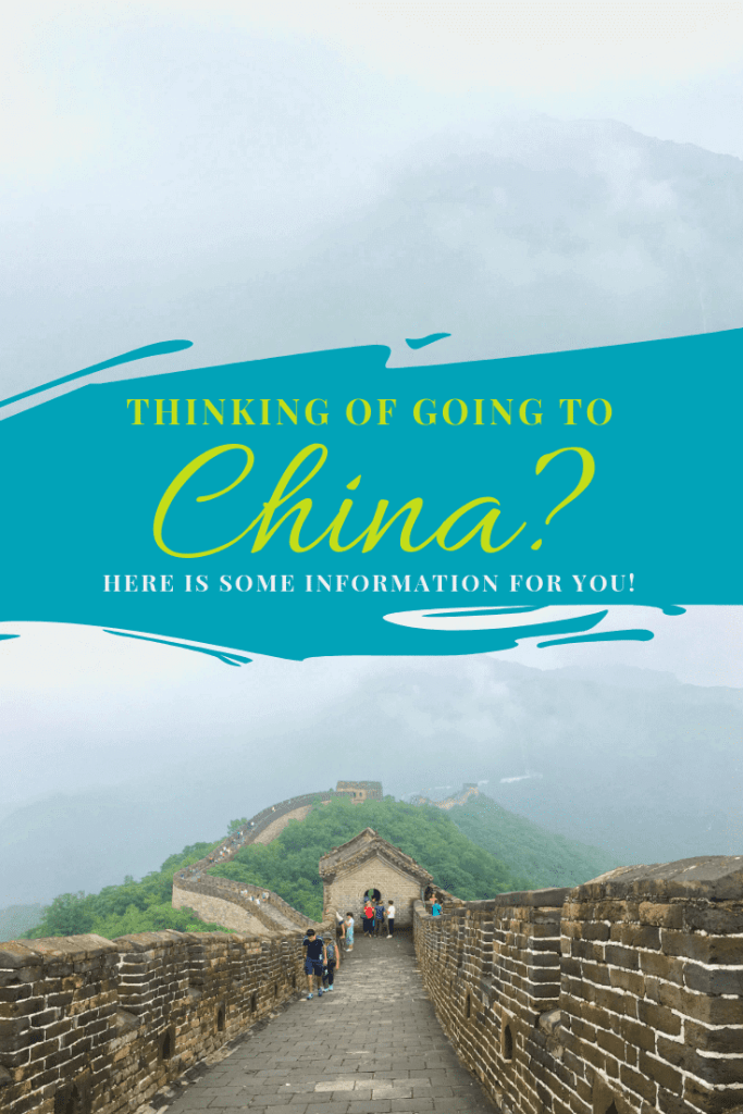 Thinking of going to China this Summer? Here is some information for you!