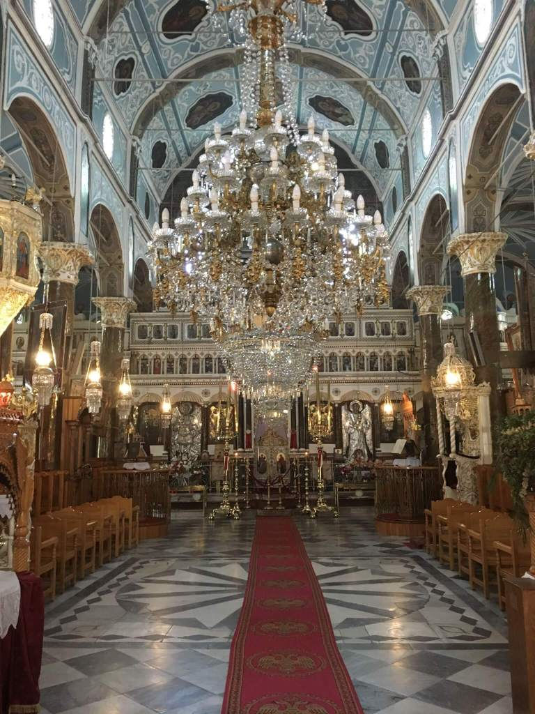 Visiting a Church in Mesta on my Chios Island visit with Alios Tours