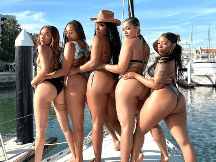 Megan Thee Stallion on Vacation in Mexico with four other women