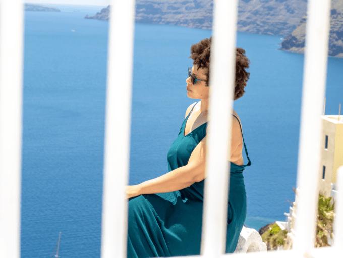 Adriana Smith from Travepreneur in Santorini