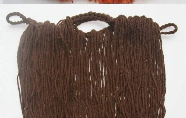 Easy Crochet Beard Toddler Adult
