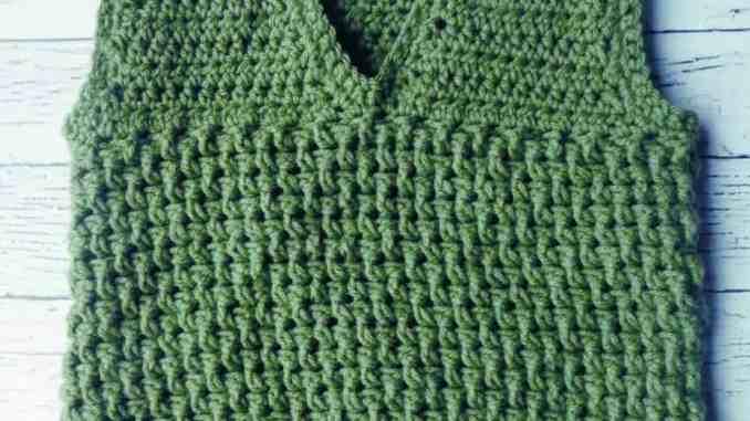 The Robert Textured Crochet Toddler Vest