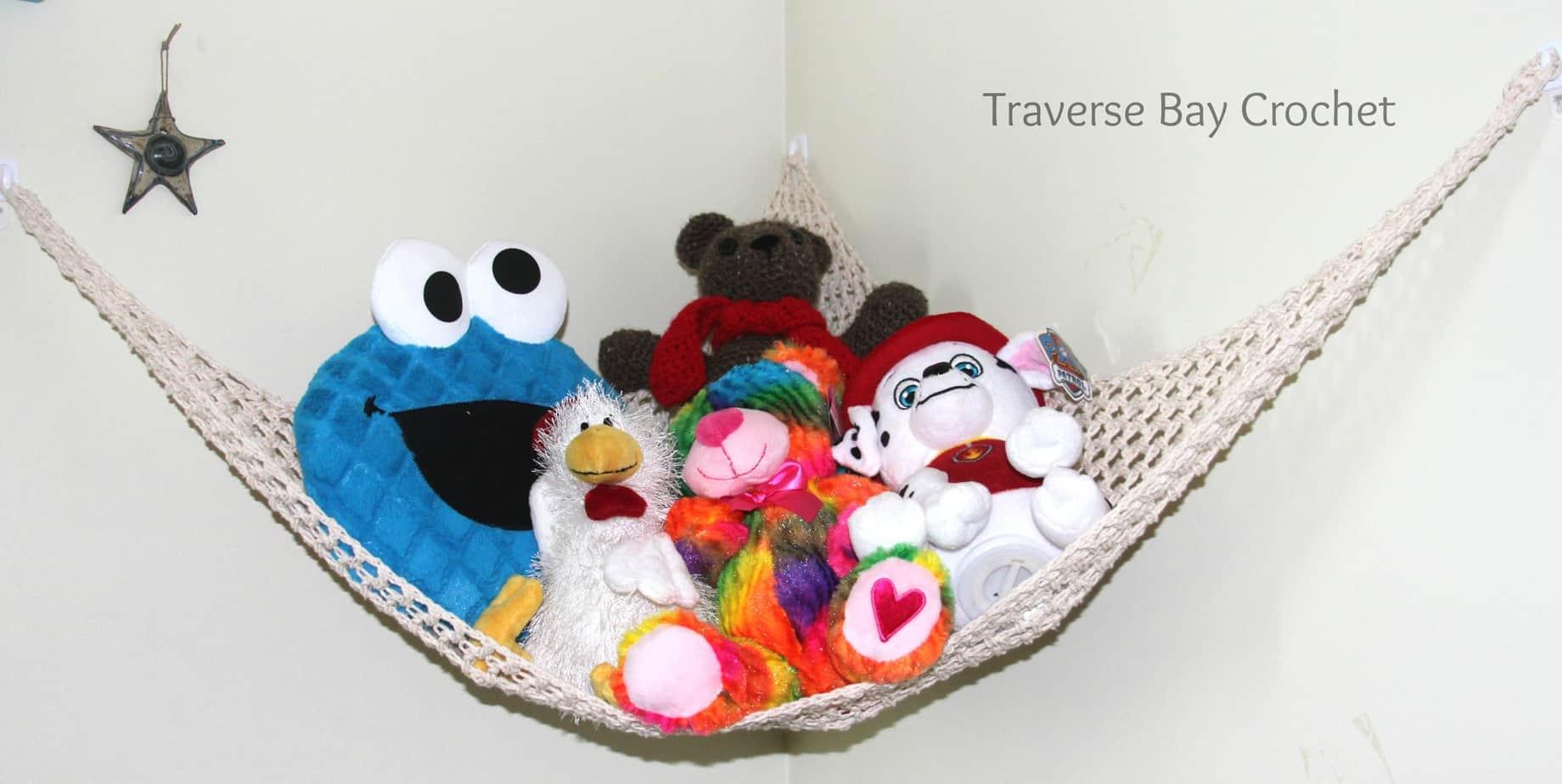 Crochet Toy Storage Hammock
