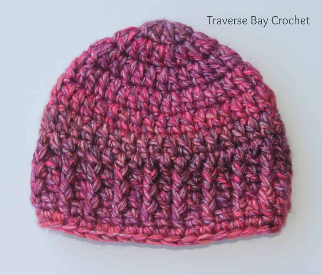 quick easy crochet baby hat |
