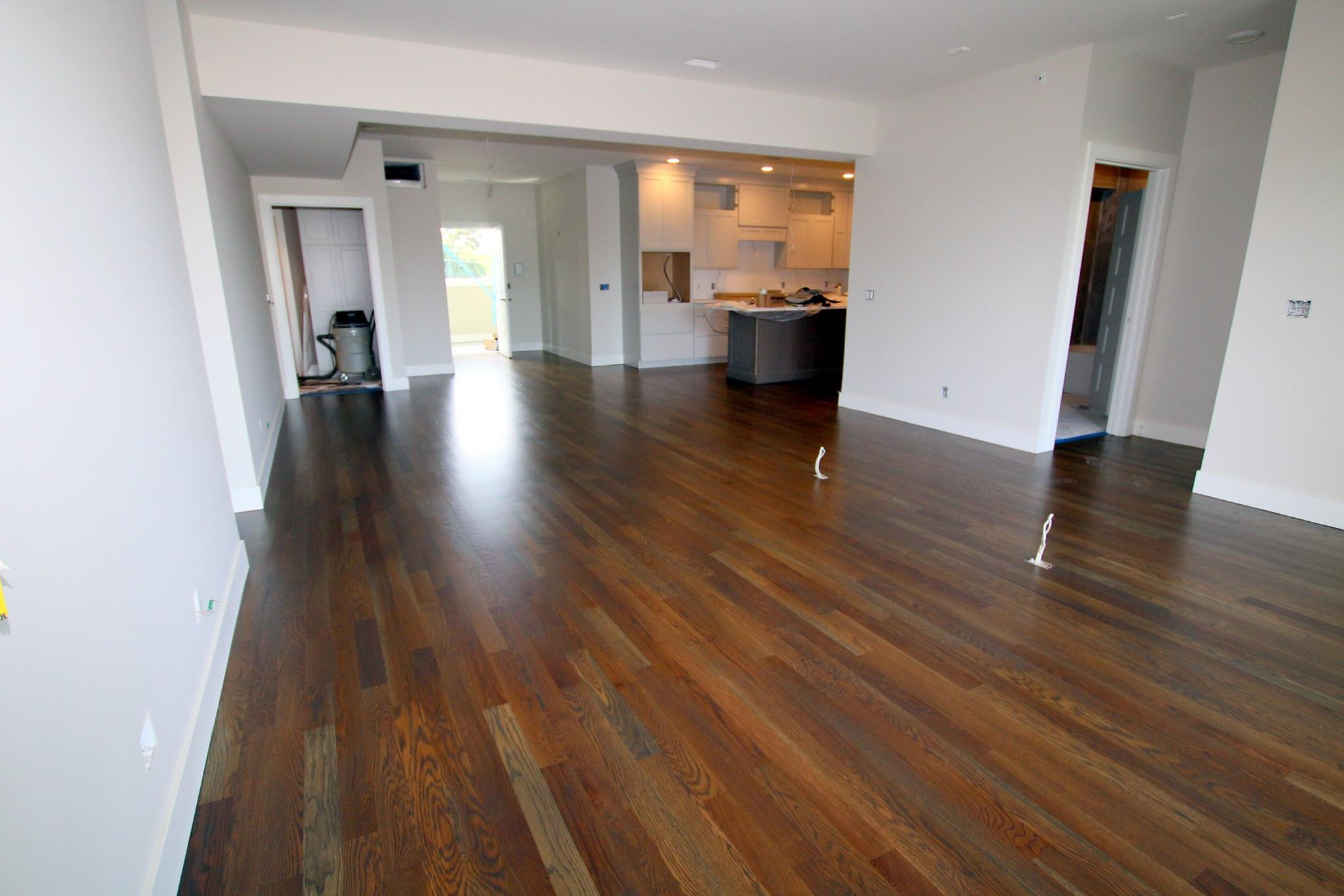 White Oak With Grey Stain In Randolf Condominiums