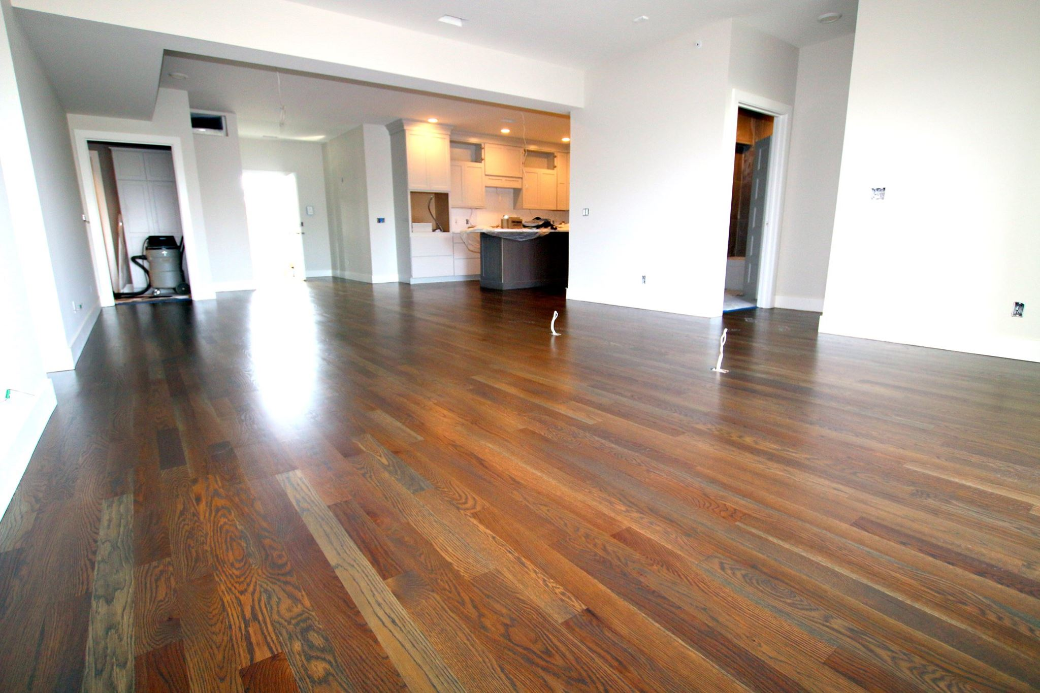 White Oak With Grey Stain In Randolf Condominiums