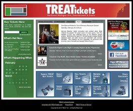 Northern Michigan Web Design: Treat Tickets