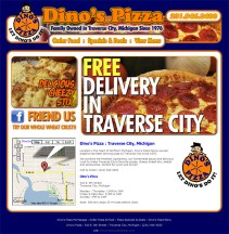 Dino's Pizza - Michigan Website Design