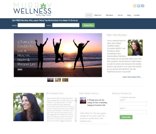 Michigan Website Design - Murray Wellness