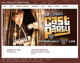 Cast Party Website - Birdland Jazz Club Website Design