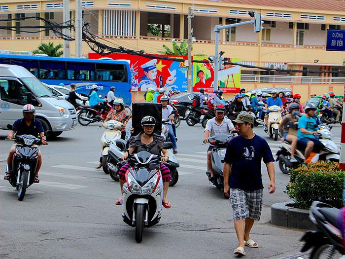 Povécham - Vietnam - Circulation Ho-Chi-Minh-Ville