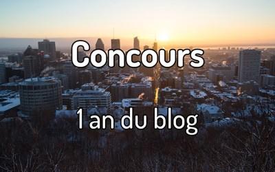 Concours – 1 an du Blog