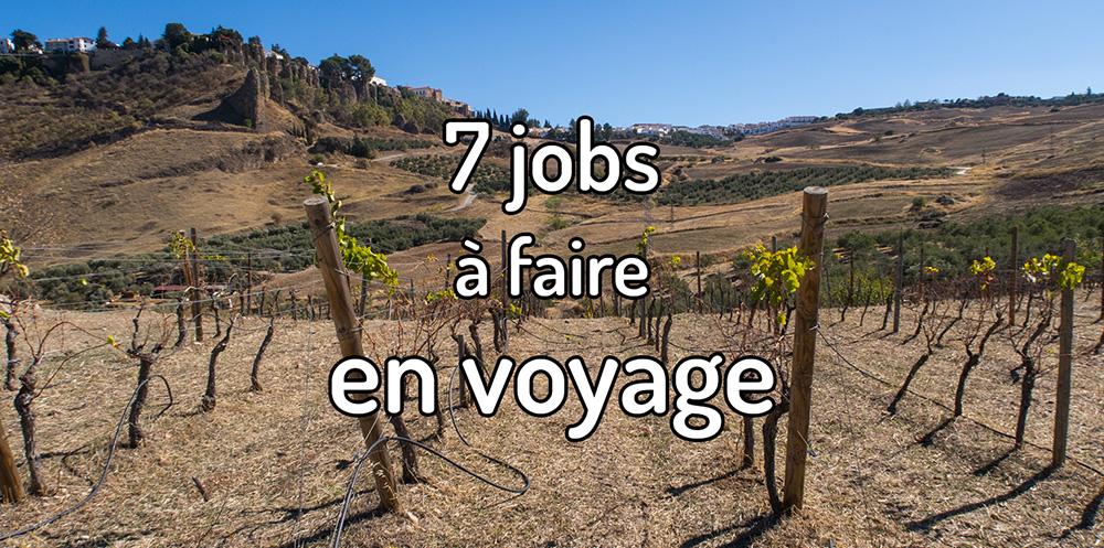 7 jobs à faire en voyage