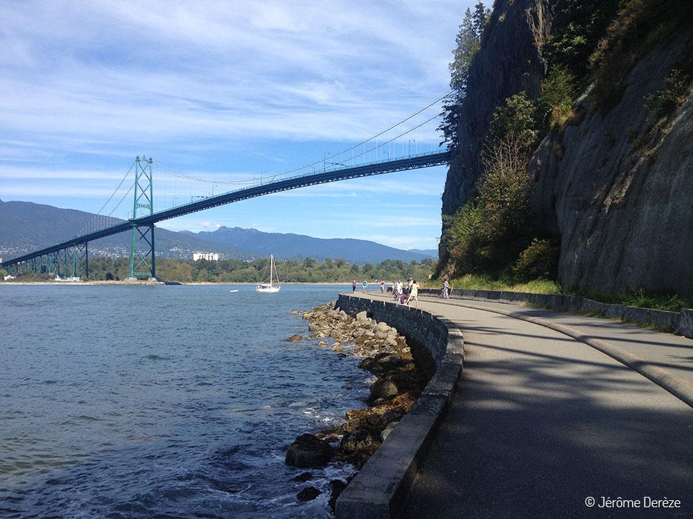 Parc Stanley à Vancouver à pied ou en vélo