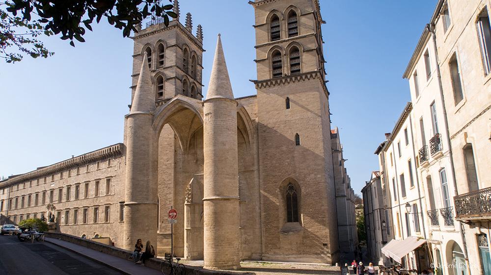 Extérieur de la Cathédrale Saint-Pierre à Montpellier