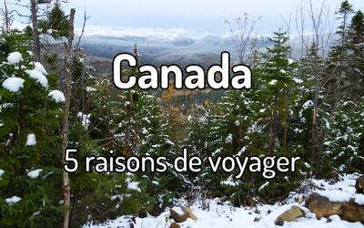 5 raisons de voyager au Canada