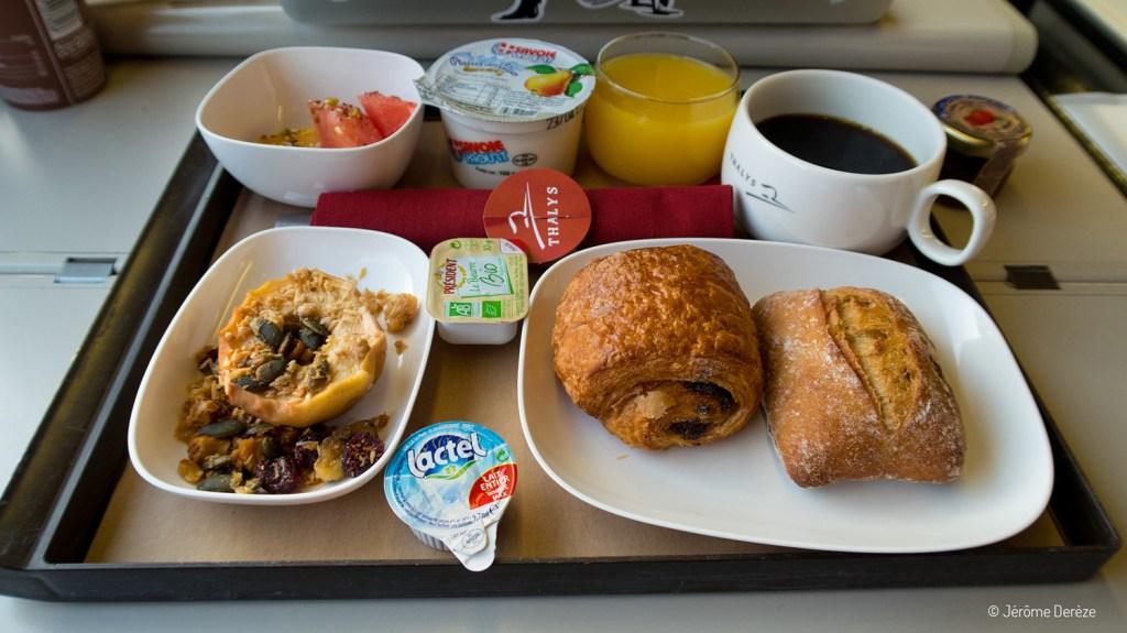 Repas dans le Thalys