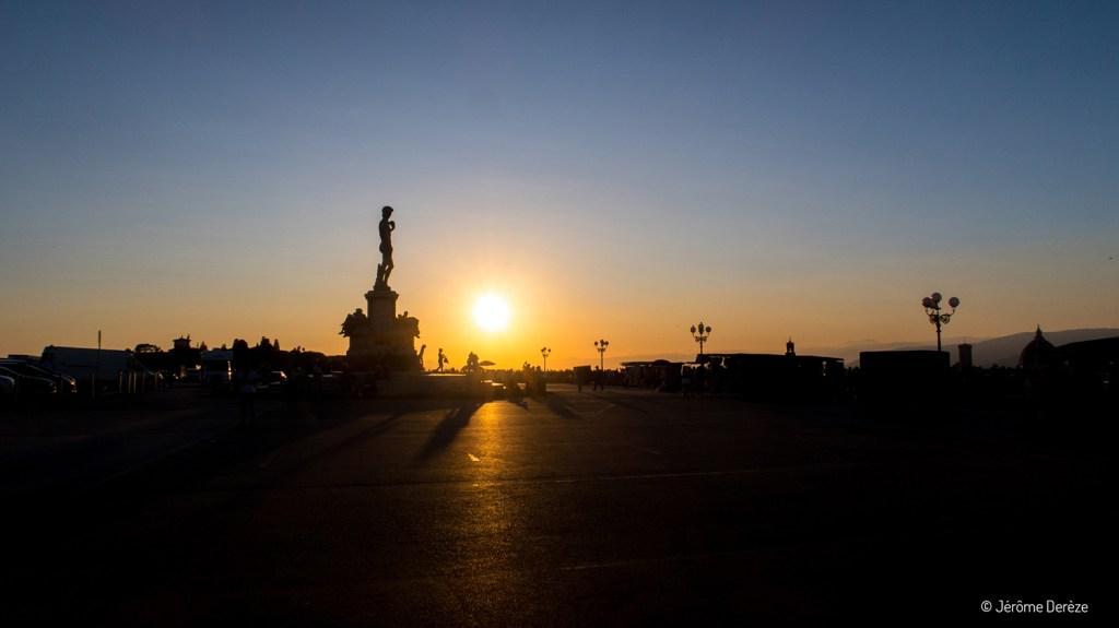 Coucher de soleil de la Piazzale Michelangelo