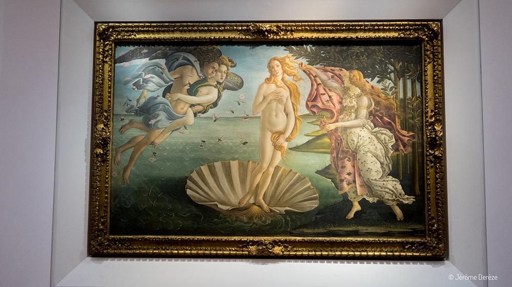 tableau la naissance de vénus de Botticelli