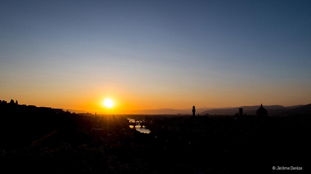 coucher de soleil à Florence