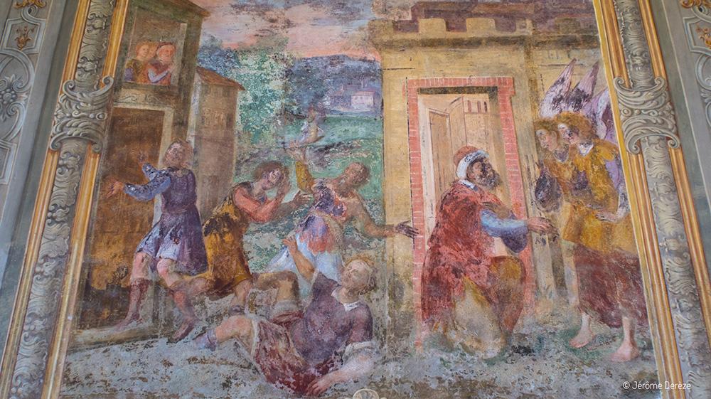 Fresques au Cloître Sainte Claire à Naples