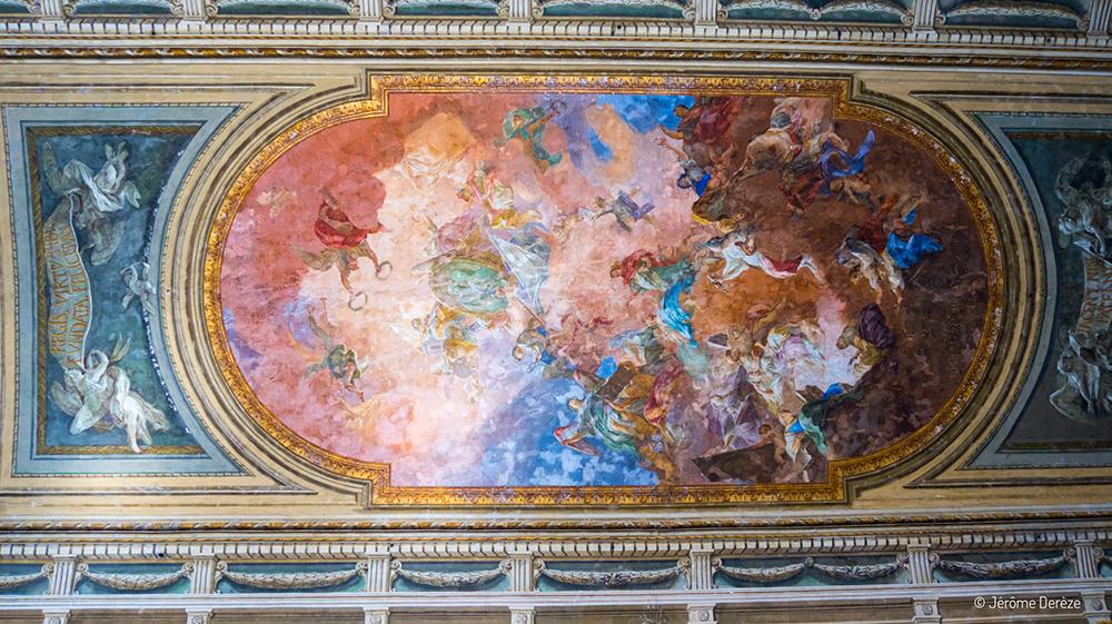 Plafond au Musée archéologique national de Naples