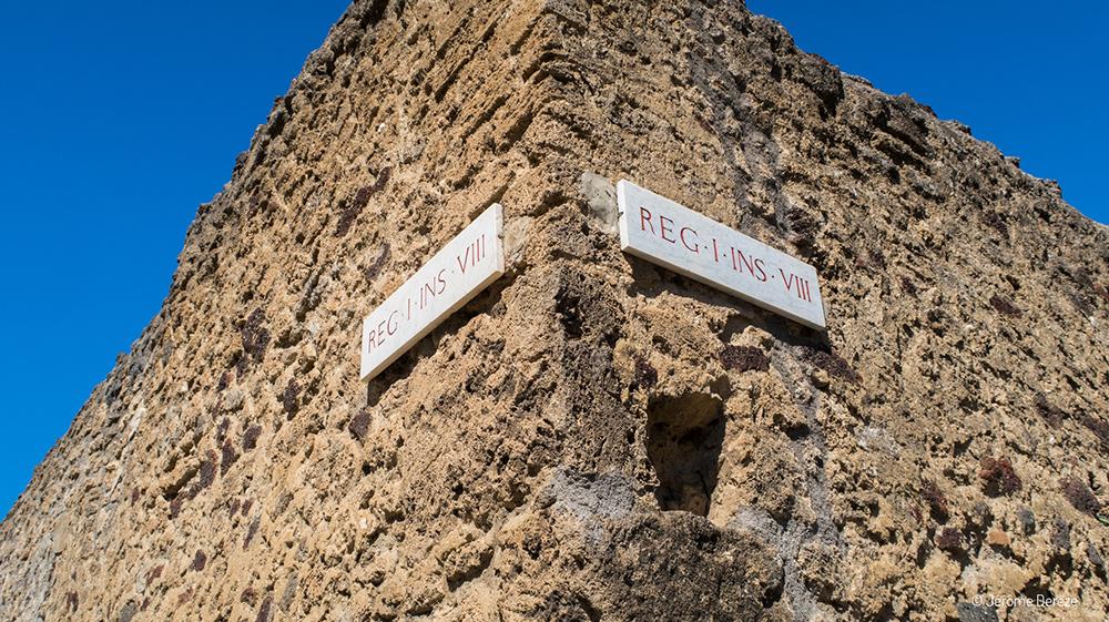panneaux des rues à pompéi