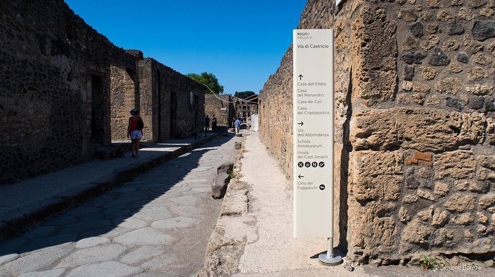 se repérer à Pompei