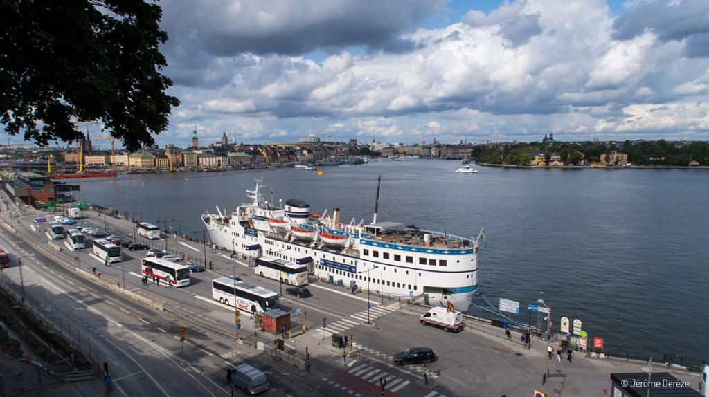 Vue sur stockholm depuis le restaurant Hermans