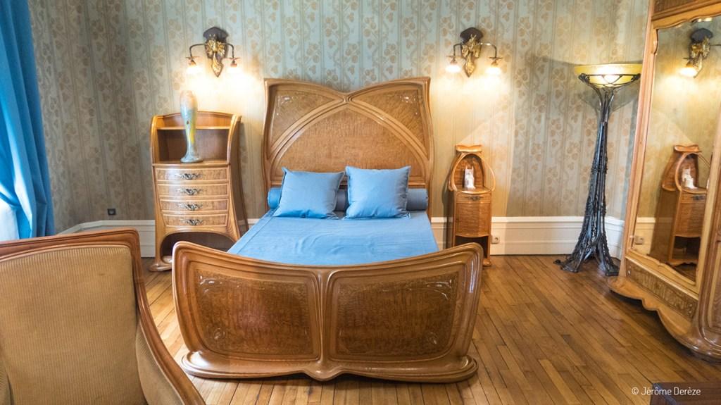 La chambre dans la Villa Majorelle