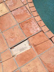saltillo tile erosion around pool
