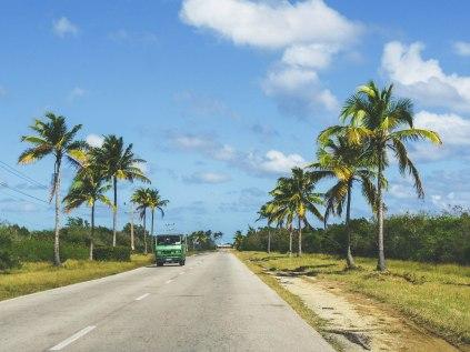 Road to Playa Santa Lucia