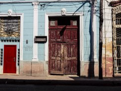 Beautiful doors and colorful houses
