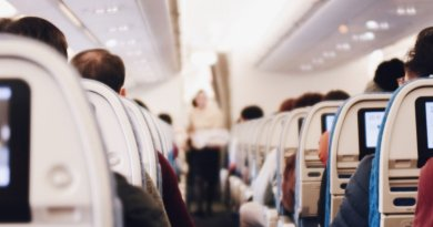 hand luggage on a long-haul flight