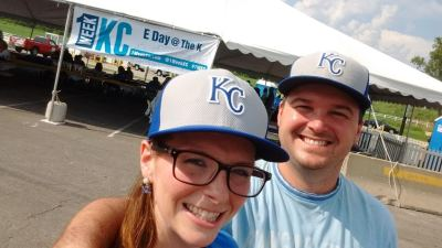 Travis Pflanz and Lauren Caldwell at E-Day at The K