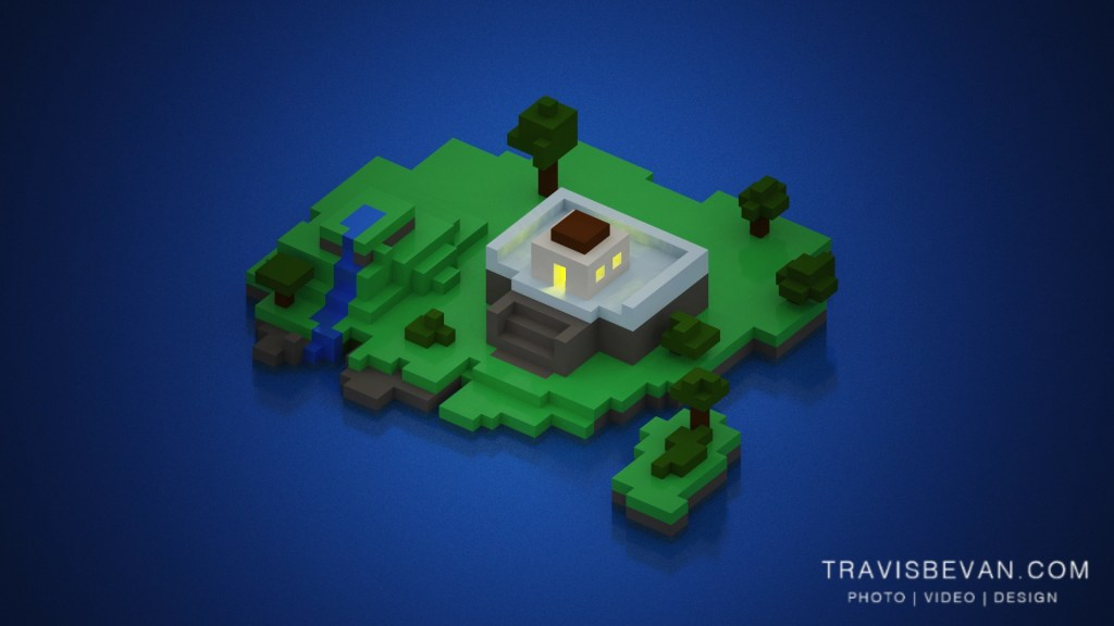 Voxel – Island temple