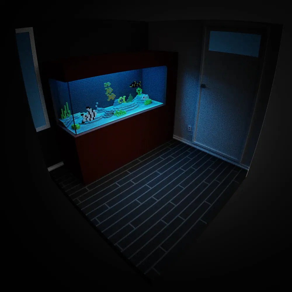 I love aquariums and I love Magicavoxel