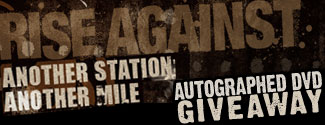 WIN - Autographed Rise Against 'Another Station: Another Mile' DVD