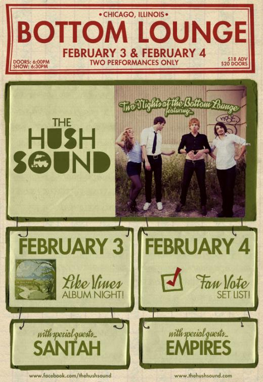The Hush Sound Announce Reunion Shows