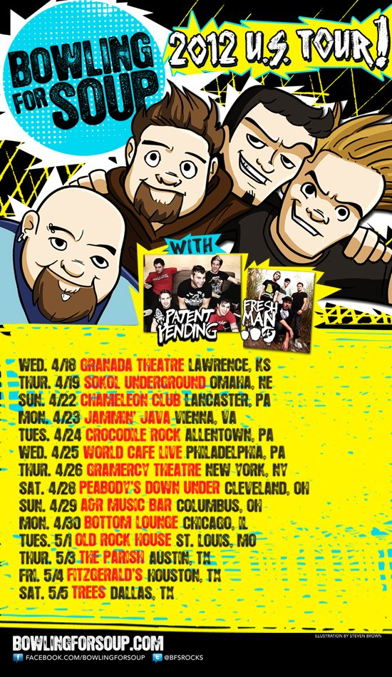Bowling For Soup Announce US Tour With Patent Pending