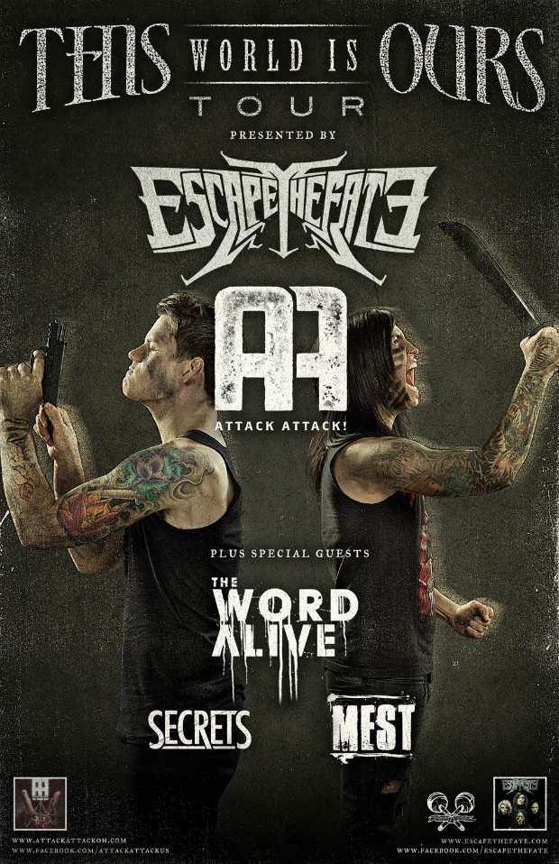 Escape The Fate, Attack Attack! Announce Tour