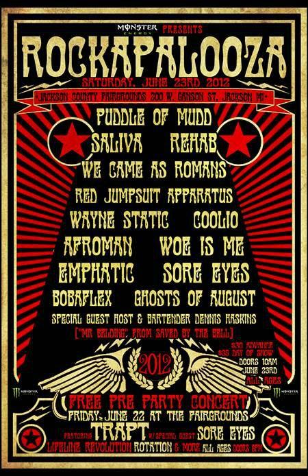 Rockapalooza 2012 Lineup