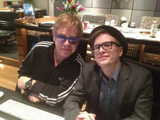 Sir Elton John In Studio With Fall Out Boy